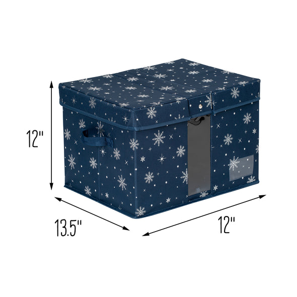 Deluxe Holiday Storage Box, Navy