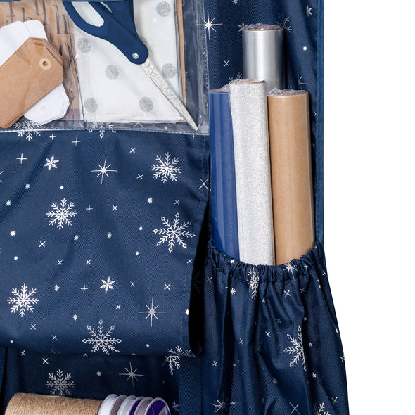 Deluxe Over-The-Door Wrapping Paper Storage
