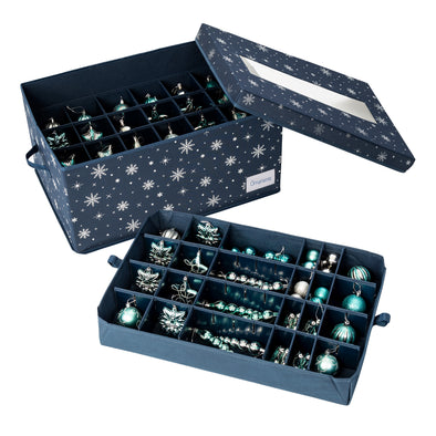 Deluxe 72-Ornament Storage Box