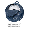 "Deluxe 2-Wreath 24"" Wreath Storage Bag, Navy"