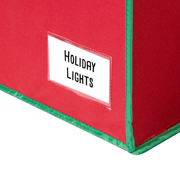 Holiday Light Storage Box, Red