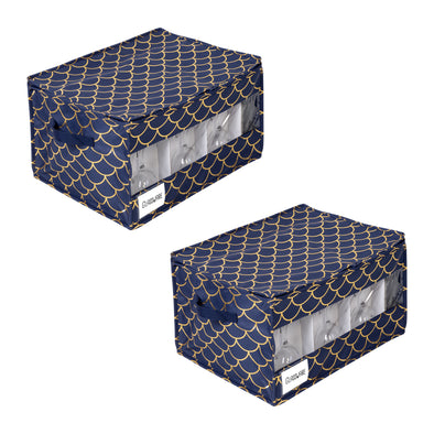 Stemware Storage Box Set, Golden Scallop Print