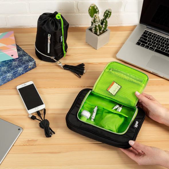 tech-and-phone-accessories-organizer-set-drawstring-u-zip-pouch-black