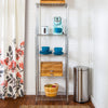5-Tier Adjustable Shelving Unit with 250-lb Shelf Capacity, Chrome