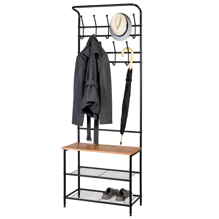 Entryway Coat Rack and Shoe Organizer