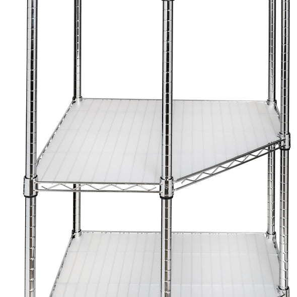 5-Tier Heavy-Duty Corner Shelving Unit, Chrome