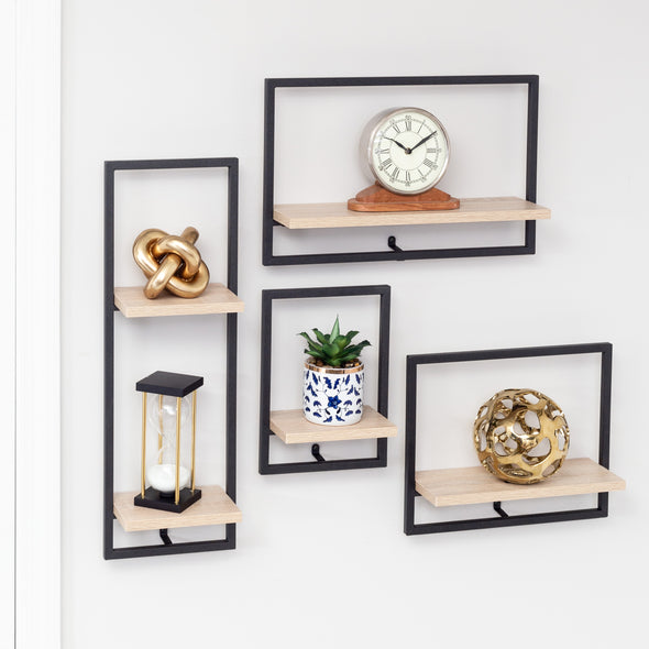 2-Tier Floating Wall Shelf