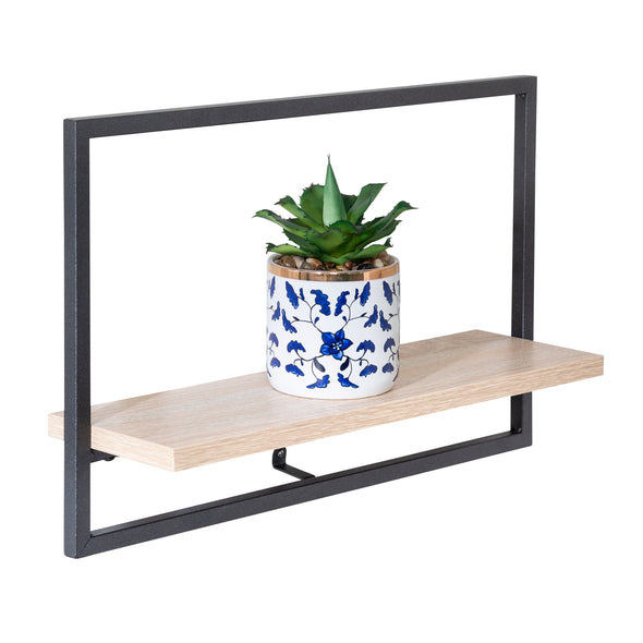 Large Horizontal Floating Wall Shelf