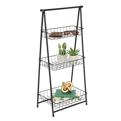 3-Tier Folding A-Frame Entryway Shelf