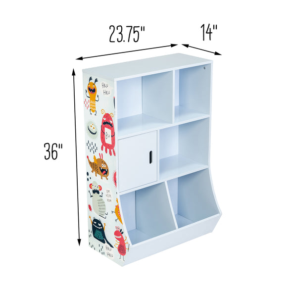6-Cube Kids Storage Cubby, Light Blue