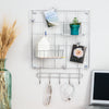 8-Piece Wire Wall Grid with Storage Accessories, Chrome