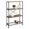 4-Tier Industrial Rolling Bookshelf
