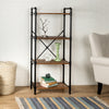 4-Tier Industrial Black Bookshelf