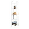 5-Tier Matte White Metal Wire Shelving Unit