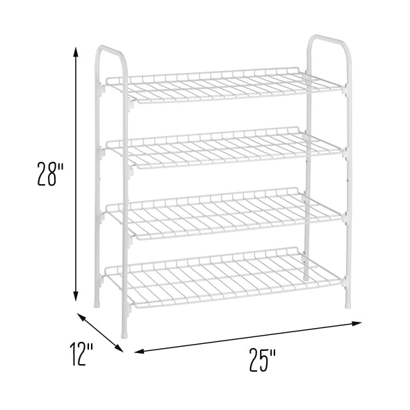 28-Inch Versatile White Storage and Shoe Shelf