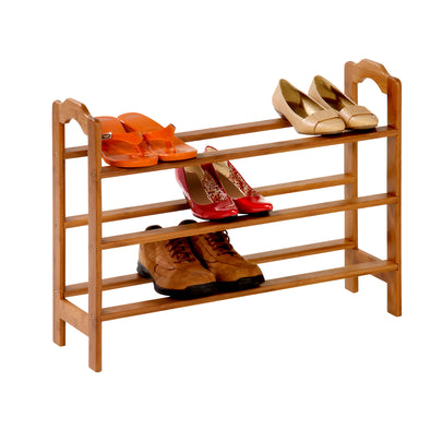3-Shelf Bamboo Shoe Rack