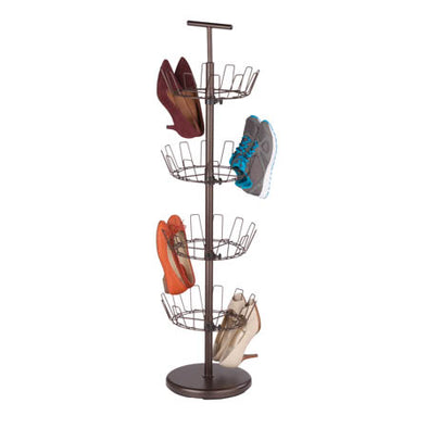 4-Tier Revolving Shoe Tree, Bronze - honeycando.com