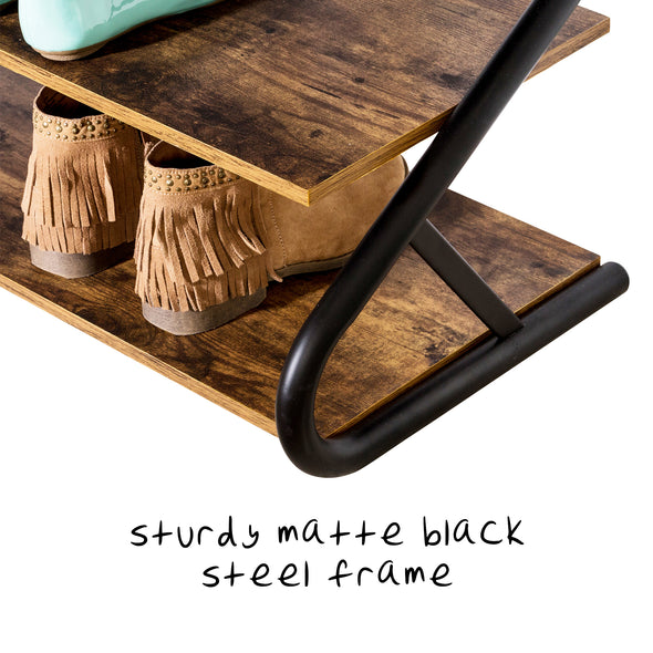 Z-Frame 3-Shelf Shoe Rack