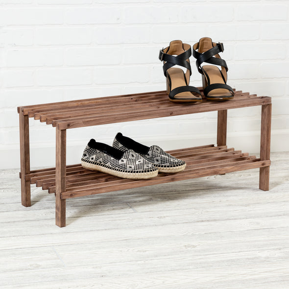 2-Shelf Shoe Rack, Espresso