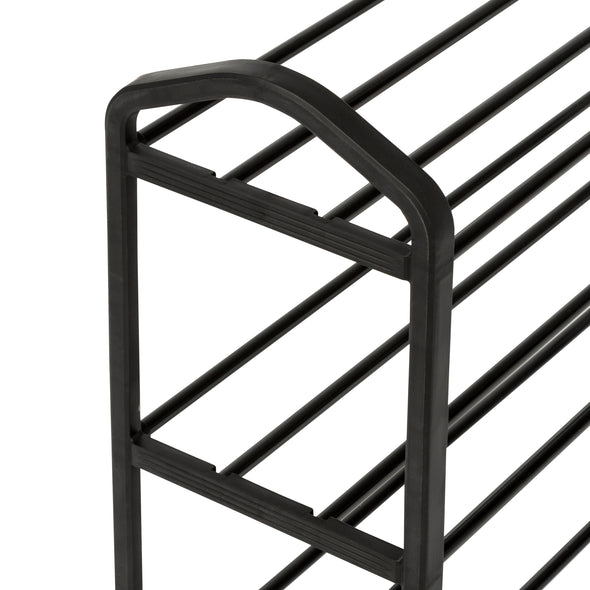 3-Shelf Black Wire Shoe Rack