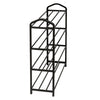 4-Shelf Black Wire Shoe Rack