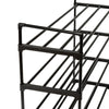 4-Tier Black Metal Modular Shoe Rack