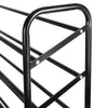 50-Pair, 10-Tier Rolling Shoe Rack Tower, Black