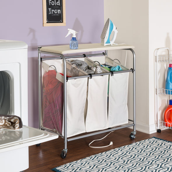 Triple Sorter with Ironing Board Top