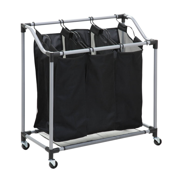 Elite Triple Laundry Sorter on Wheels