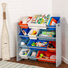 Kids Toy Storage Organizer with 12 Bins, Gray