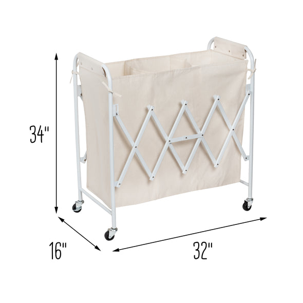 Collapsible Accordion Triple Sorter, Natural