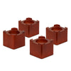 Set of 4 Wooden Bed Risers, Cherry