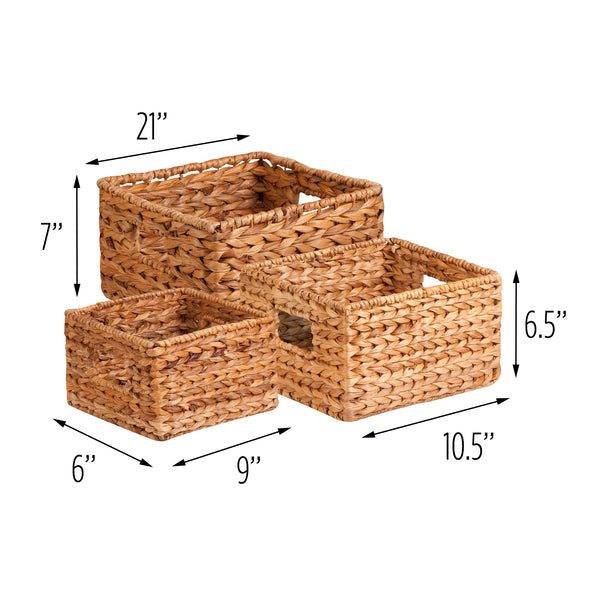3-Pack Nested Natural Baskets