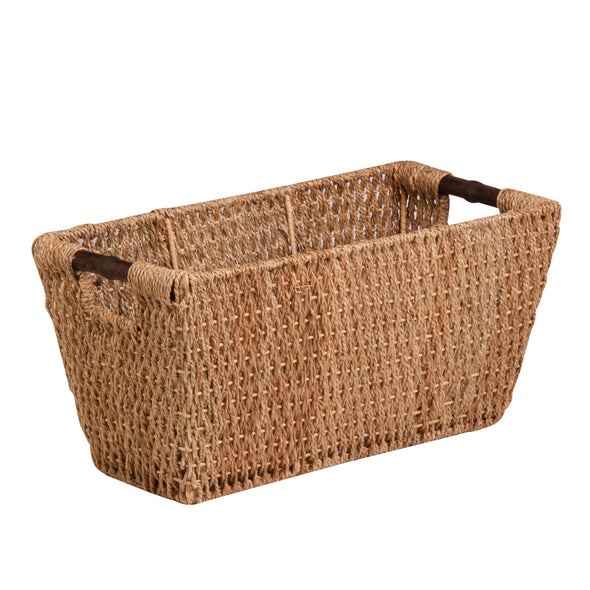 Seagrass Basket With Handles, Natural