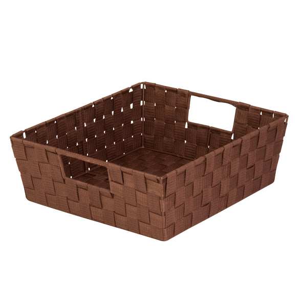 Double Woven Shelf Tote, Espresso