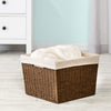 Paper Rope Storage Basket with Liner, Brown