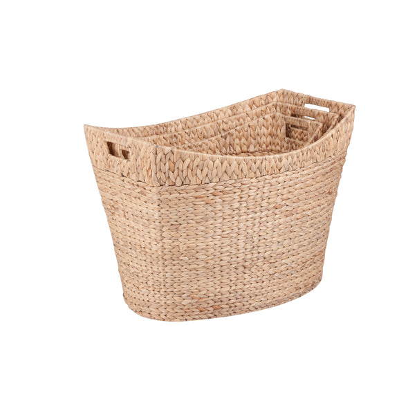 3-Piece Large Nesting Hyacinth Baskets