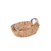 3-Piece Oval Hyacinth Baskets, Natural