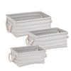 3-Piece Zig Zag Baskets, Gray