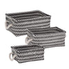3-Piece Zig Zag Baskets, Black