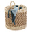 Nesting Tea Stained Woven Baskets Set of 3, Coastal Collection