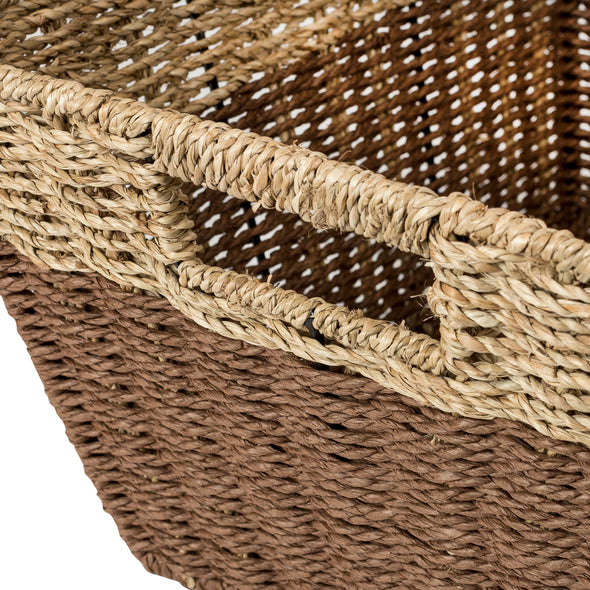 set-of-3-rectangle-nesting-seagrass-2-color-storage-baskets-with-built-in-handles-natural-brown
