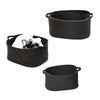 Set of 3 Black Cotton Coil Baskets