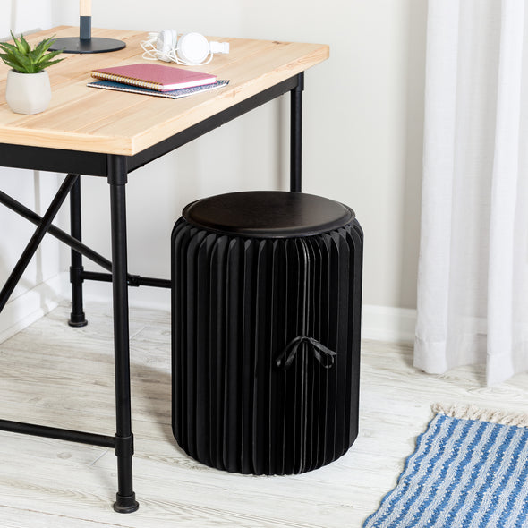 Black Foldable Paper Stool