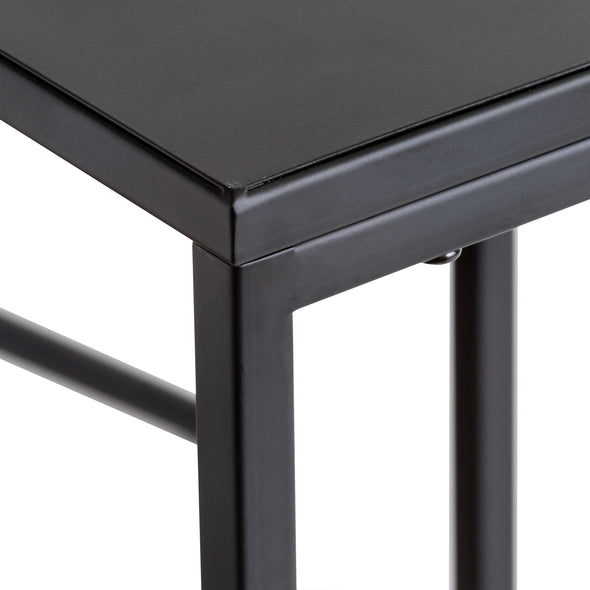 Set of 2 Square Side Tables, Black