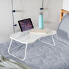 Collapsible Folding Lap Desk, White/Faux White Marble