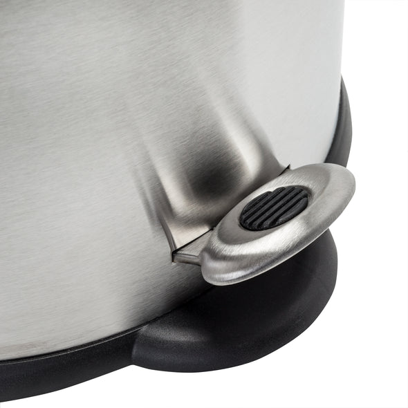 12L Oval Stainless Steel Step Trash Can