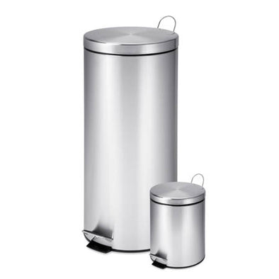 30L & 3L Stainless Steel Trash Can Combo - honeycando.com