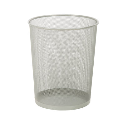 Mesh Metal Waste Basket, Silver