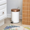 30L & 3L Round Trash Can Set, White and Rose Gold